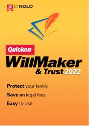 Quicken WillMaker & Trust 2022