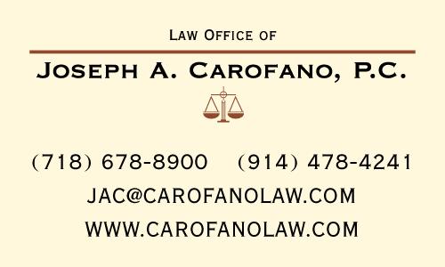 Law Office of Joseph A. Carofano, P.C.