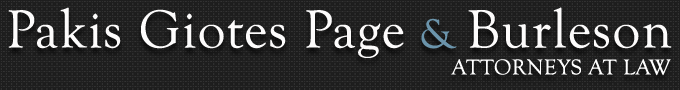 Pakis, Giotes, Page & Burleson A Professional Corporation