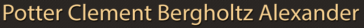 Potter Clement Bergholtz Alexander